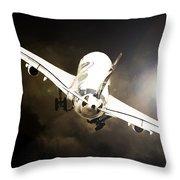 A340 Takeoff Throw Pillow