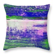 Aa3 1 Paint Textures Abstract Collage Throw Pillow