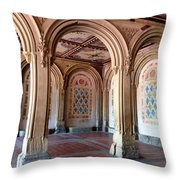 Architecture In Central Park Throw Pillow