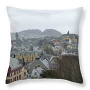 Aalesund From Above Throw Pillow