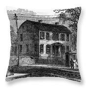Aaron Burr Birthplace Throw Pillow