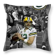 Aaron Rodgers Packers Throw Pillow