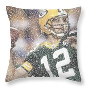 Aaron Rodgers Quotes Mosaic Throw Pillow