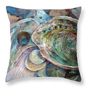 Abalone Grouping Throw Pillow