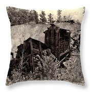Abandon Montana Mine Throw Pillow