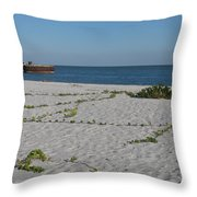 Abandonded Pier Throw Pillow