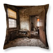 Abandoned Asylum - Haunting Images - What Once Was Throw Pillow by Gary Heller