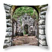 Abandoned Bath House  Ver 2 Throw Pillow