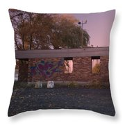 Abandoned Building In France Throw Pillow