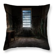 Abandoned Building - Old Room - Room With A Desk Throw Pillow