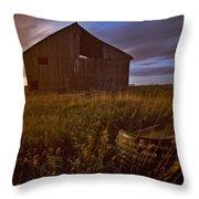 Abandoned Building, Saskatchewans Throw Pillow