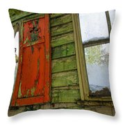 Abandoned Cabin Elkmont - Coming Down Clover Throw Pillow