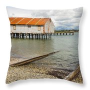 Abandoned Cannery Throw Pillow