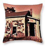 Abandoned Cape Breton House Throw Pillow by John Malone