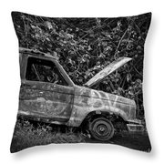 Abandoned Car Road To Hana Maui Throw Pillow