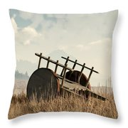Abandoned Cart Throw Pillow