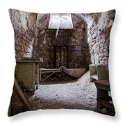 Abandoned Cell 2 Throw Pillow