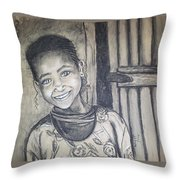 Abandoned Charcoal Throw Pillow
