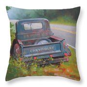 Abandoned Chevy Throw Pillow