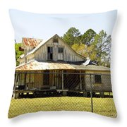 Old Abandoned Cracker Home Throw Pillow