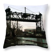 Abandoned Eagle Ave Bridge Throw Pillow