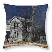 Abandoned Except For Ghosts Throw Pillow