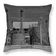 Abandoned Factory At Vadu Throw Pillow