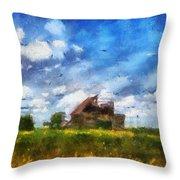 Abandoned Farm 03 Photo Art Throw Pillow