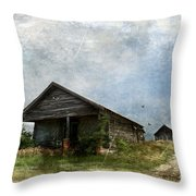 Abandoned Farm Home - Kansas Throw Pillow
