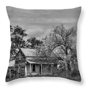 Abandoned Farm House - A Rd Sw - Douglas County - Washington - May 2013 Throw Pillow