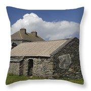 Abandoned Farm In Ireland Throw Pillow