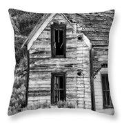 Abandoned Farmhouse - Alstown - Washington - May 2013 Throw Pillow