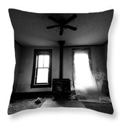 Abandoned Fireplace Throw Pillow by Cale Best