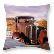 Abandoned For Almost 100 Years On Route 66 Throw Pillow