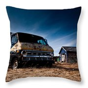 Abandoned Ford Van Throw Pillow