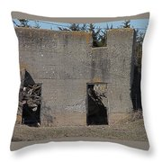 Abandoned Foundation 1 Throw Pillow