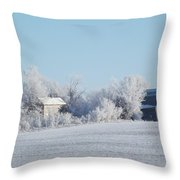 Abandoned Frost Farm Throw Pillow