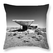 Abandoned Gas Throw Pillow