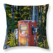 Abandoned Gas Pump Throw Pillow