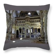 Abandoned Greek Orthodox Church  Throw Pillow