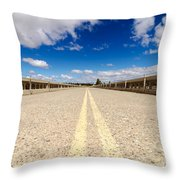 Abandoned Highway Throw Pillow