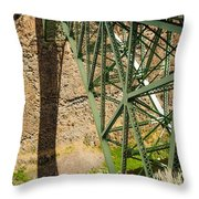 Abandoned Highway Vertical Throw Pillow