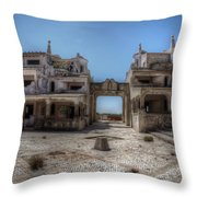 Abandoned Holidays Throw Pillow