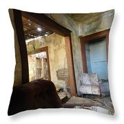 Abandoned Homestead Series Decay Throw Pillow