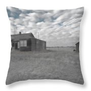 Abandoned Homestead Series Selective Color Throw Pillow