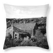 Abandoned House And Barn - Alstown - Washington - May 2013 Throw Pillow