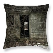 Abandoned House - Enter House On The Hill Throw Pillow