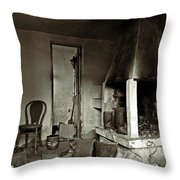 Abandoned In A Rush Throw Pillow