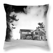 Abandoned In Castile Throw Pillow