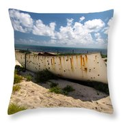 Abandoned In Grand Turk Throw Pillow